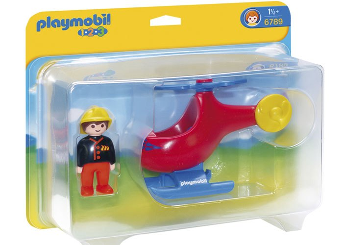 Playmobil 1 2 3 Helicoptero de rescate playmobil
