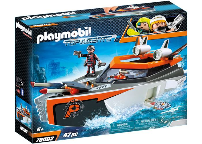 PLAYMOBIL 70002 BARCO ESPIAS SPY TEAM TURBOSHIP playmobil