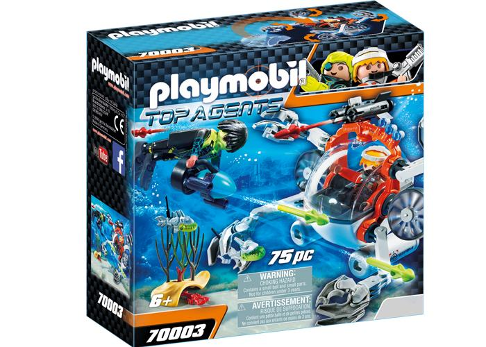 Playmobil 70003 Top Agent Robot Sumergible playmobil