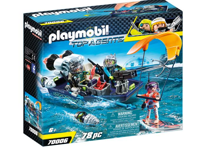 Playmobil 70006 Barca con arpon Equipo Shark playmobil