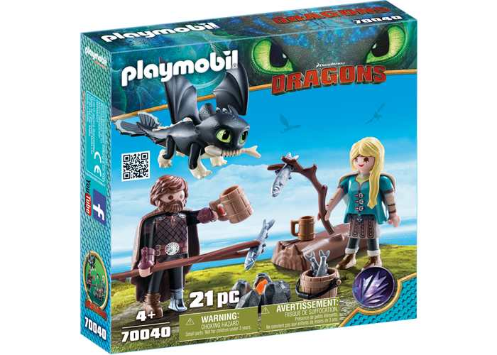 Playmobil 70040 Hipo y Astrid con dragon playmobil