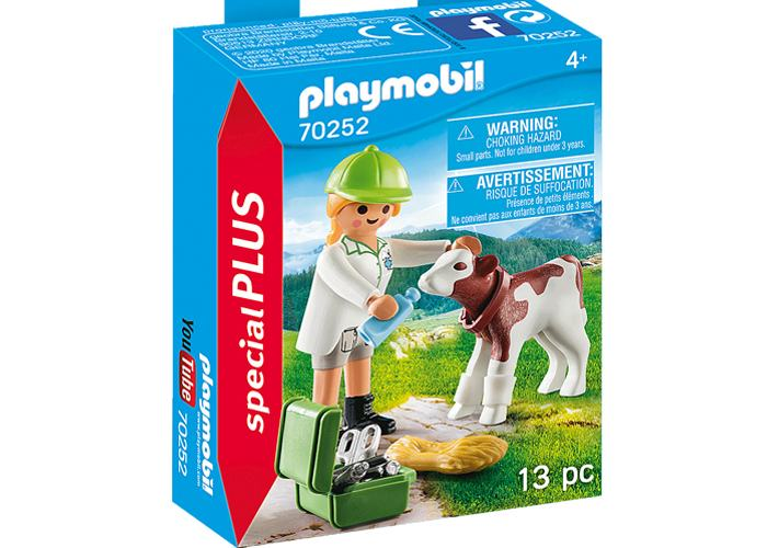 Playmobil 70252 Veterinaria con ternero playmobil