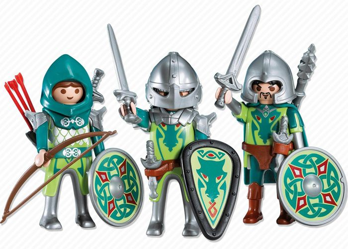 Playmobil Trio Caballeros del Dragon playmobil
