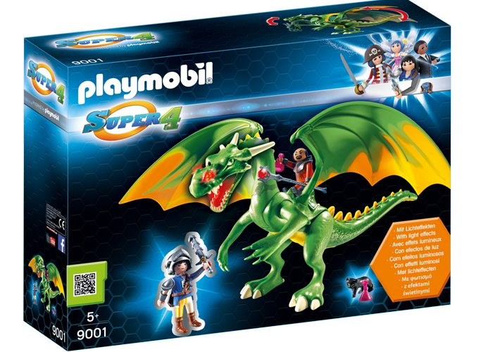 Playmobil Super 4 Dragón de Kingsland con Alex playmobil