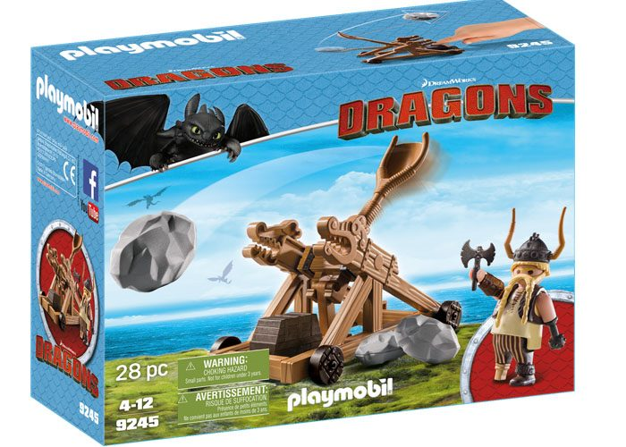 Playmobil Dragons Bocón con catapulta playmobil