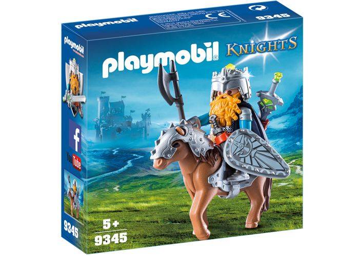 Playmobil 9345 General enano en pony con armadura playmobil