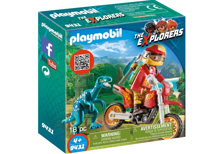 Playmobil 9431 Motocross con Raptor playmobil