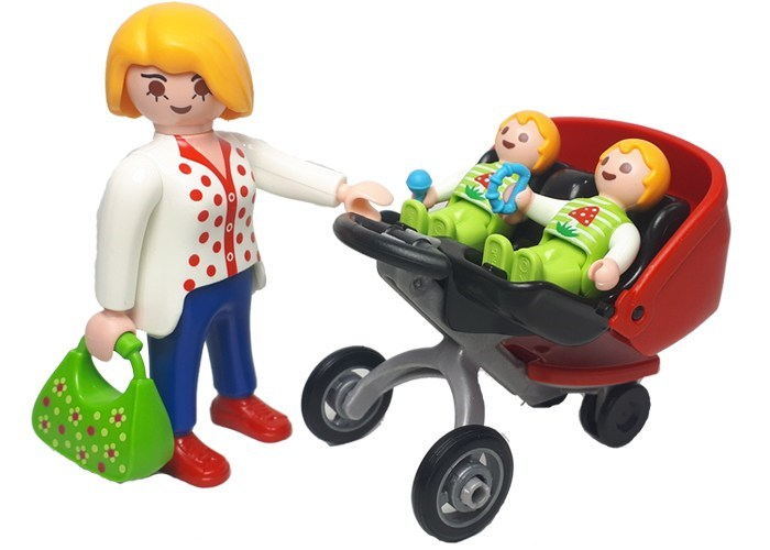 Playmobil Madre con Carro Gemelar playmobil