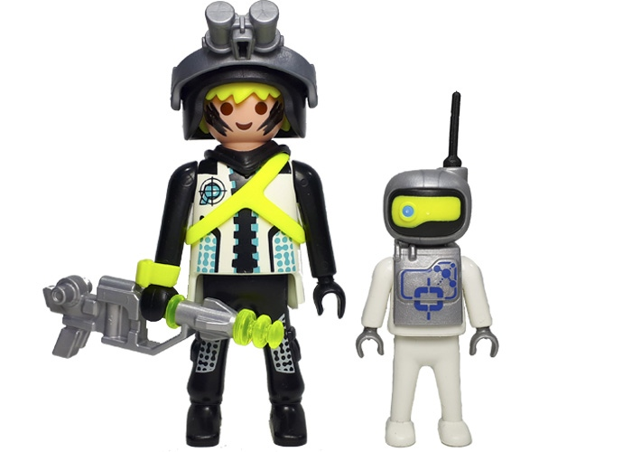 Playmobil Agente Espacial y Mini Robot playmobil