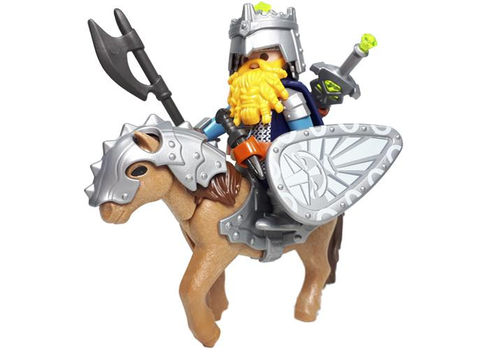 Playmobil General Enano con pony playmobil