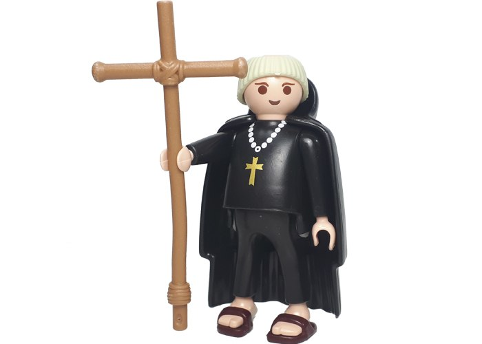 Playmobil Monje con cruz playmobil