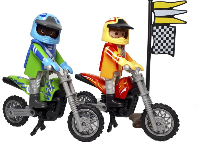 Playmobil Motos de Cross  playmobil