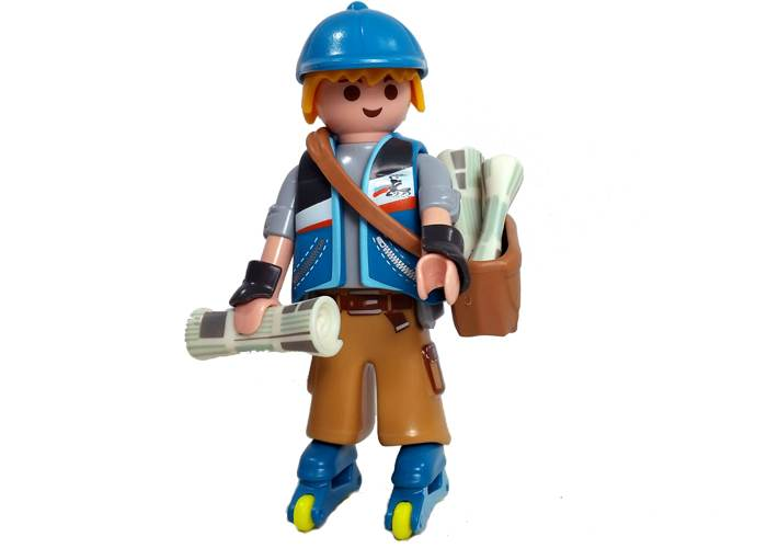 Figura Chico Paper Boy playmobil