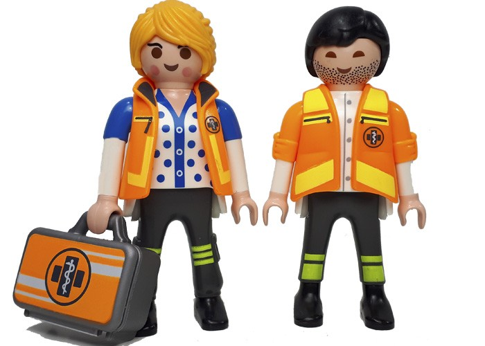 Playmobil Pareja Emergencias playmobil