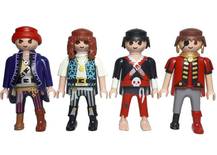 Playmobil Piratas Pack 4 playmobil