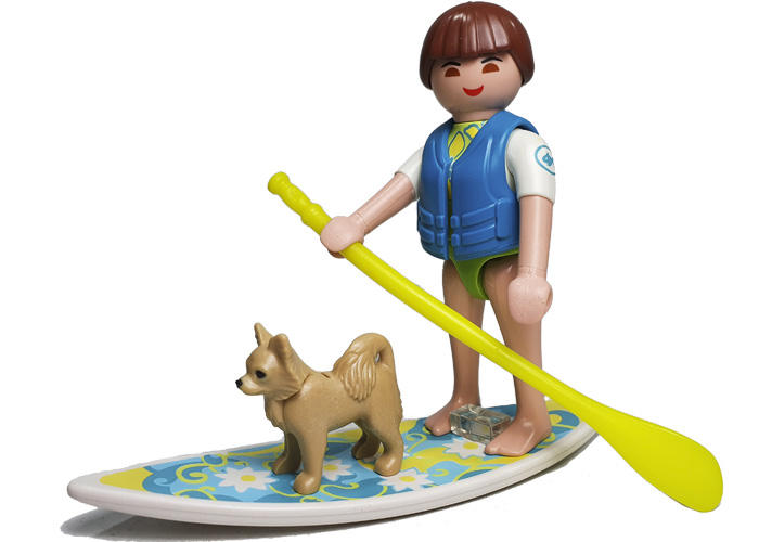 Playmobil Chica Paddle Surf con perro playmobil