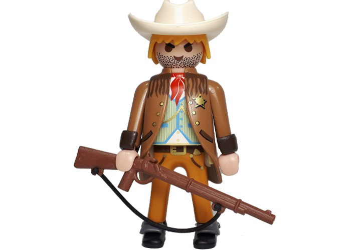 Playmobil Sheriff Oeste con rifle playmobil