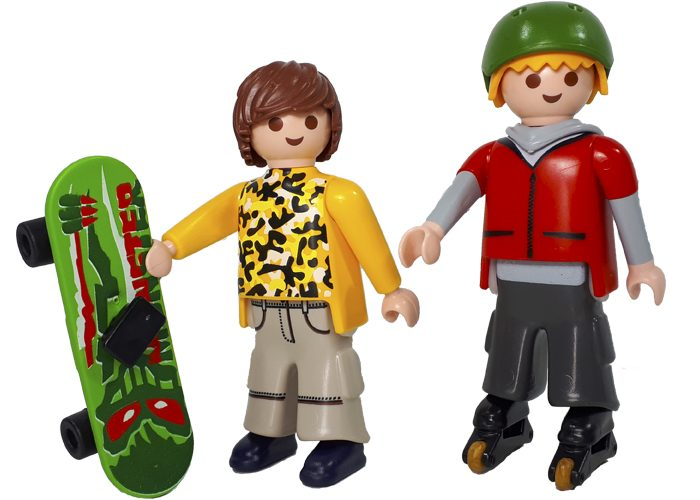 Playmobil Chicos Skaters Patinadores playmobil